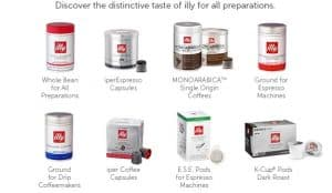 illy Monthly Coffee Subscription - K cups® , Pods, Brewed Coffee