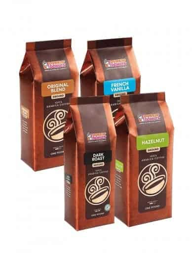 Dunkin Donuts Coffee Lover Bundle Ground Coffee 64oz