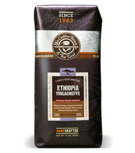 Coffee Bean and Tea Leaf Ethiopia Yirgacheffe Whole Bean Light Roast 16oz