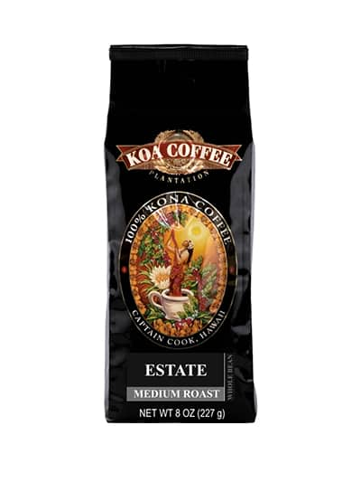 Koa Coffee Estate Kona Blend Whole Bean Coffee Medium Roast 8oz