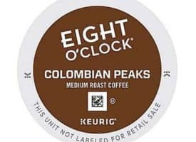 Eight O' Clock Colombian Peaks Medium Roast Coffee K cups® 24ct