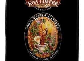 Koa Coffee Estate Kona Blend Whole Bean Coffee Dark Roast 80oz