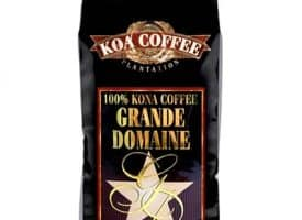 Koa Coffee Grand Domaine Kona Whole Bean Coffee Medium Dark Roast 16oz