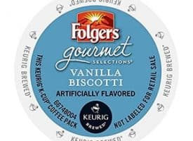 Folgers Vanilla Biscotti Medium Roast Coffee K cups®  24ct