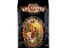 Koa Coffee Peaberry Kona Whole Bean Coffee Dark Roast 16oz