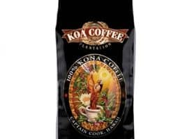 Koa Coffee Peaberry Kona Whole Bean Coffee Medium Roast 8oz