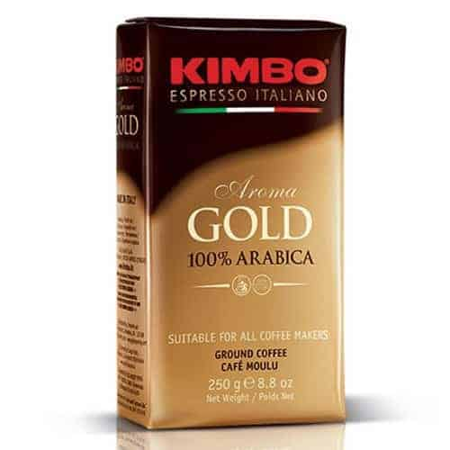 Caffe Kimbo Aroma Gold 100% Arabica Ground Coffee Espresso Medium Roast 8.8oz