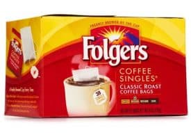 Folgers Classic Roast Medium Roast Coffee Singles 38ct