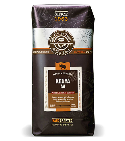 Coffee Bean and Tea Leaf Kenya AA Whole Bean Light Roast 16oz