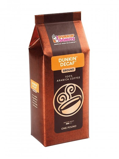 Dunkin Donuts Decaf Regular Ground Coffee Medium Roast 16oz