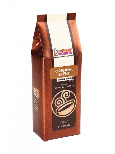 Dunkin Donuts Original Blend Whole BeanCoffee Medium Roast 16oz