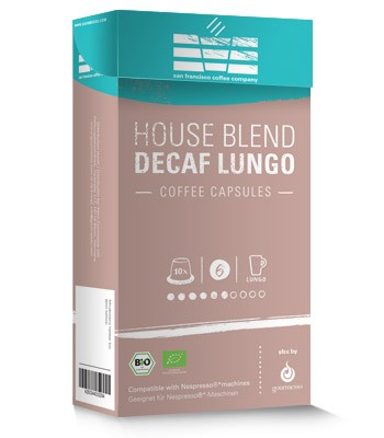 Gourmesso Decaf SFCC House Blend Medium Roast Capsules 10ct