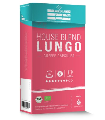 Gourmesso SFCC House Blend Dark Roast Coffee Capsules 10ct