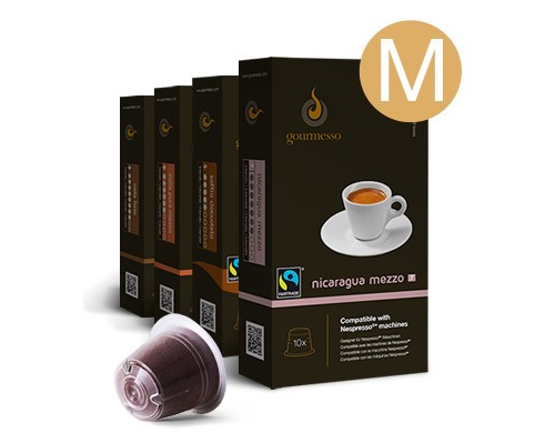 Gourmesso Specialty Coffee Medium Trial Bundles Variety Espresso Capsules 180ct