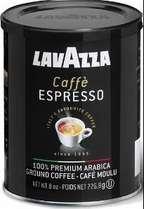 Lavazza Caffe Espresso Ground Coffee Medium Roast 8oz