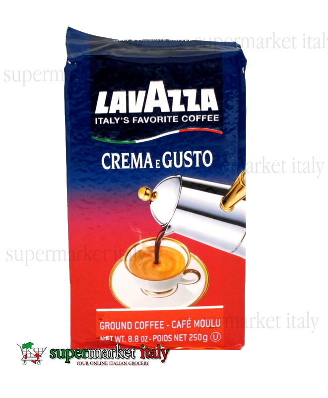 Lavazza Crema E Gusto Ground Coffee Dark Roast 8.8oz 5 Bricks