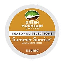 Green Mountain Coffee Summer Sunrise Blend Light Roast K cups®  24ct