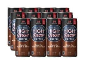 High Brew Coffee Dairy Free Black and Bold Cold Brew Coffee 8oz 12ct