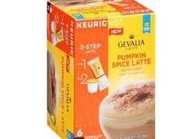 Gevalia Pumpkin Spice Latte Espresso Light Roast Kcups 6ct