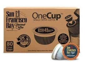San Francisco Bay Espresso Dark Roast Single Serve K-Cups One Cup 80ct