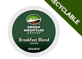 Green Mountain Coffee Breakfast Blend Recyclable Light Roast K cups® 24ct
