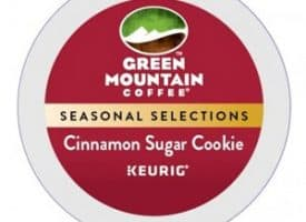 Green Mountain Coffee Cinnamon Sugar Cookie Light Roast Seasonal K cups®  24ct
