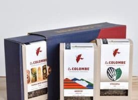 La Colombe Around the World Gift Box Variety Pack Whole Bean Coffee 36oz