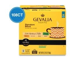 Gevalia Decaf Signature Blend Medium Roast Kcups 108ct
