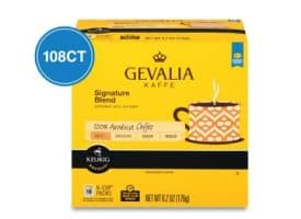 Gevalia Signature Blend Medium Roast Kcups 108ct