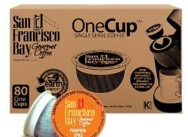 San Francisco Bay Pumpkin Spice Medium Roast Single Serve K-Cups One Cup 80ct