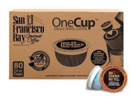 San Francisco Bay Cinnamon Crumb Cake Medium Roast Single Serve K-Cups One Cup 80ct