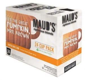 Maud's Righteous Blends Pumpkin Spice Blend Medium Roast Recyclable Coffee Pods 100ct