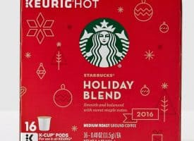 Starbucks Holiday Blend 2016 Medium Roast K cups®  Pods 32ct
