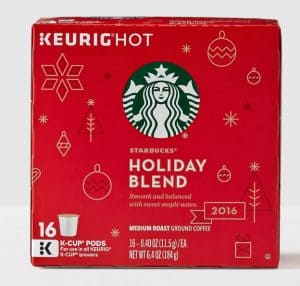 Starbucks Holiday Blend 2016 Medium Roast K cups®  Pods 16ct
