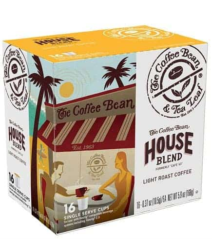 Coffee Bean and Tea Leaf House Blend Light Roast K cups®  16ct