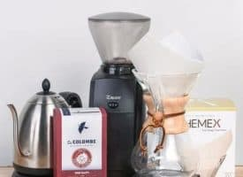 Chemex Enthusiast Kit with Bonavita Electric Kettle, Baratza Encore Grinder and La Colombe Coffee
