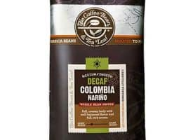 Coffee Bean and Tea Leaf Decaf Colombia Narino Blend Whole Bean Light Roast 16oz