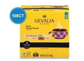 Gevalia Dark Royal Dark Roast Kcups 108ct