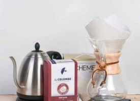 Chemex Starter Kit with Bonavita Electric Kettle and La Colombe Coffee