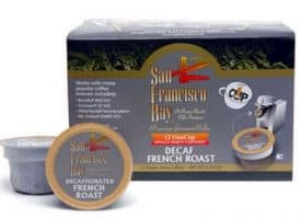 San Francisco Bay Decaf French Roast Dark Roast Single Serve One Cup 12ct