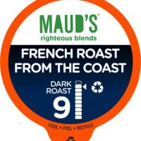 Maud's Righteous Blends French Roast Dark Roast Recyclable Coffee Pods 100ct