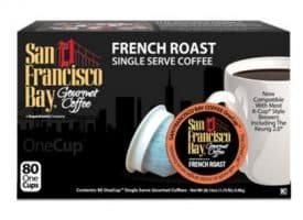 San Francisco Bay French Roast Dark Roast Single Serve K-Cups One Cup 80ct
