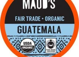 Maud's Righteous Blends Organic Guatemalan Medium Roast Recyclable Coffee Pods 96ct