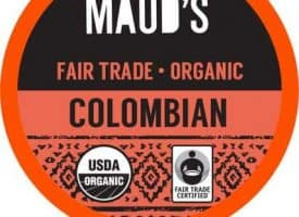 Maud's Righteous Blends Organic Colombian Medium Roast Recyclable Coffee Pods 96ct