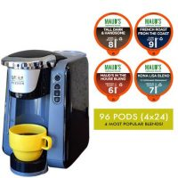 Maud's Righteous Blends Gourmet Variety Recyclable Coffee Pods 96ct + Coffee Brewer