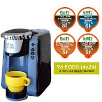 Maud's Righteous Blends Decaf Variety Recyclable Coffee Pods 96ct + Coffee Brewer