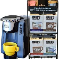 Maud's Righteous Blends Gourmet Variety Recyclable Coffee Pods 96ct + Coffee Brewer + Rack