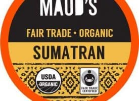 Maud's Righteous Blends Organic Sumatran Medium Roast Recyclable Coffee Pods 96ct