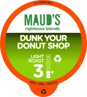 Maud's Righteous Blends Donut Shop Light Roast Recyclable Coffee Pods 100ct