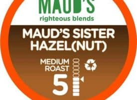Maud's Righteous Blends Hazelnut Medium Roast Recyclable Coffee Pods 100ct